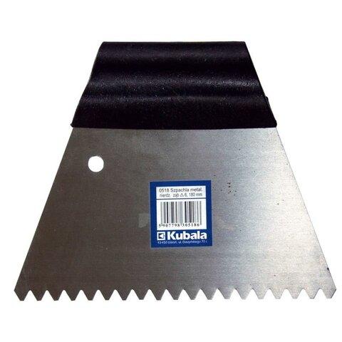 Ozubená stěrka nerez 180 mm zub 6 mm (0518)